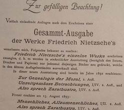 Nietzsches Editionsgeschichte und Entstehungsgeschichte