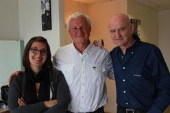 Marion Bourgeon, Gilles Lozachmeur de L'Oz Production et Dan Ar braz