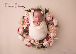 Rüschenwrap, Wrapping für Neugeborenen Fotografie, Neugeborenen Outfit Haarband Pucktuch, Newborn Outfit