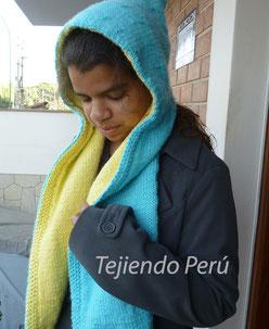 Tutorial: capa con cTutorial: capucha con bufanda forrada tejida en dos agujas o palitosuello alto tejida en dos agujas o palitos