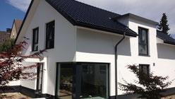 KfW 55 Einfamilienhaus - Architektenhaus in Herford - Terrassenüberdachung