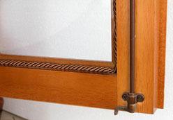 ガラスケース キュリオケース コレクションボード 2ドア ショーケース イタリア製 イタレッポート ITALEXPORT 猫足 クラシック家具 アンティーク調 ビーチ無垢材