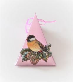 Dreieckbox mit 3D-Motiv Weihnachten