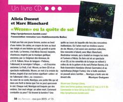 Compagnie d'Azur Alicia Ducout Wezen CD-Livre Rennes
