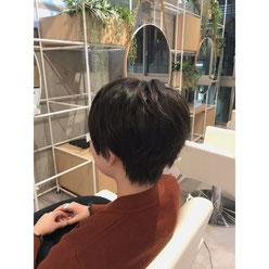 横浜 石川町 美容室 Grantus ショートスタイル グレージュカラー ヴィンテージュァラー