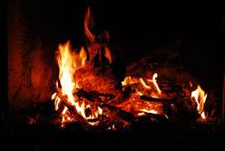 Wir machen gern mal ein Feuer im Garten