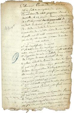 Cahier de doléances de Vélizy.