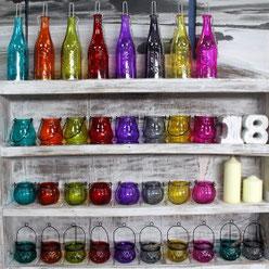 lanternes en verre recyclée