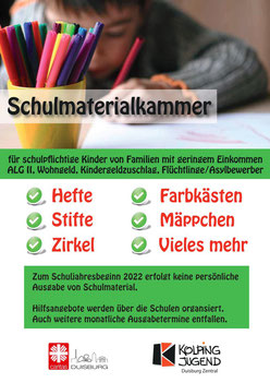Öffnungszeiten Schulmaterialkammer 2016/17