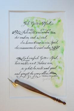 Schriftkunst zur Konfirmation - eine große Freude für Pate und Konfirmand