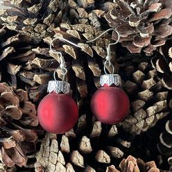 Druckatelier46 - Ohrschmuck Weihnachtskugeln