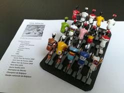 La carrière d'Eddy Merckx en quelques maillots