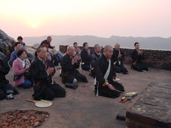 Lotus Sutra reading at Mt. Sacred Eagle
