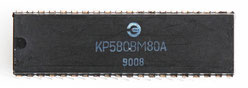 КР580ВМ80А Front View