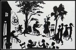 rühwerk: Sommerfest im Rokoko, Tuschzeichnung (1963)