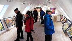 Ausstellungsraum in der Blauen Leiter