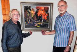 Wolf-Dietmar Stock vor seinen Gemälden