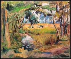 Frühwerk: Kühe auf der Weide  (ca. 1960)