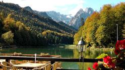 Der Riessersee liegt südlich von Garmisch