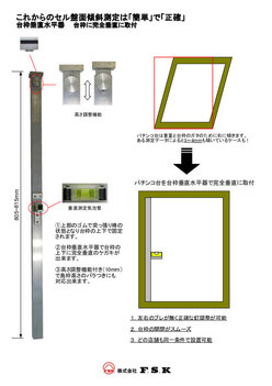 パチンコ台枠垂直水平器