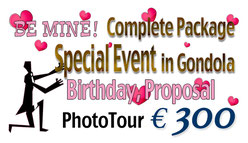 Special Event/ Birthday, Proposal in Gondola Photography Service Package €300