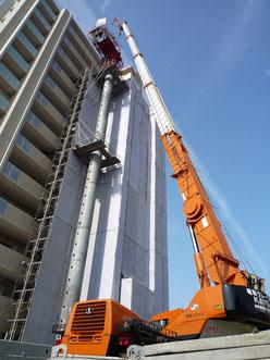 昭和クレーンでは、高所作業が可能な50tクレーンを所有!岐阜 多治見、愛知 名古屋・春日井などでの高所作業ならお任せください!