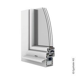 Kunststoff-Fenster EgoOne halbflächenversetzt