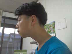頚椎ヘルニアに悩む奈良県御所市の男性