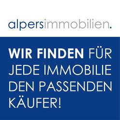 Alpers Immobilien Logo mit Firmenslogan