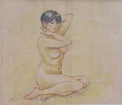 裸婦 水彩 10号