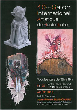 Claude Rossignol - Affiche 40è Salon International Artistique de Haute-Loire 2019