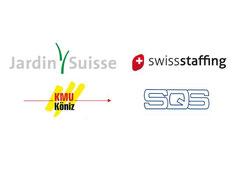 Jardin Suisse, swissstaffing, KMU Köniz, SQS