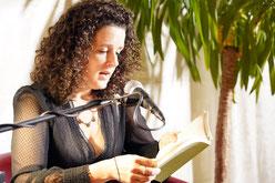 Franziska Hauser liest bei der Lesenacht an der M8.