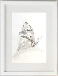 """""""MARIPOSA DEL AIRE (F.G. LORCA)"""", 2020, Acquerello, 20 x 30"""