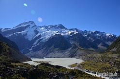 Neuseeland - Motorrad - Reise - Gebirge um Mount Cook - Gletscher
