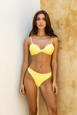 bikini top vaquita- yellow