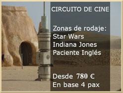 Circuito De Cine: Lugares de rodaje de Star Wars, el Paciente Inglés e Indiana Jones.