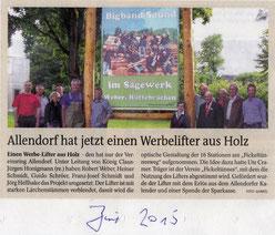 Allendorf hat jetzt einen Werbelift aus Holz