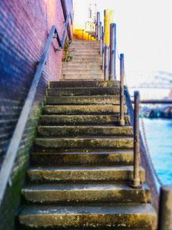 Die Treppe hinauf. Foto: R. Palte/LichtwarkSchule