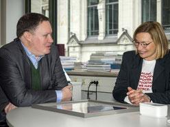 Dr. C. Brosda und R. Wagenblast im Gespräch. Foto: R. Palte