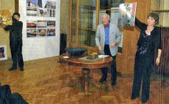 """Kunstauktion im """"Cheesmeyer"""" mit Daniel Wüthrich, Charles Brauer und Kitty Schaertlin - Foto Volksstimme"""