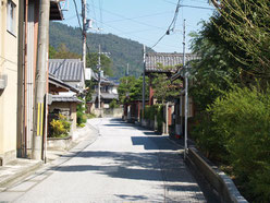 武佐宿への道