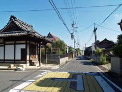 お堂前の旧中山道