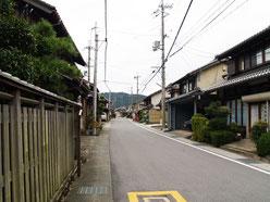 今須宿の町並み