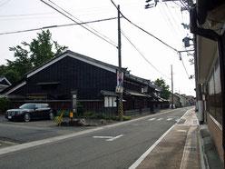 太田宿西の町並み