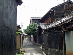 旧中山道の裏路地