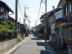 武佐宿脇道の町並み