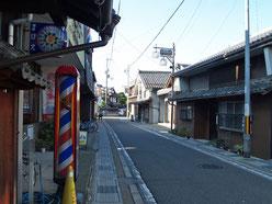 愛知川宿の町並み