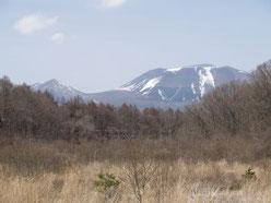 信濃追分駅より浅間山