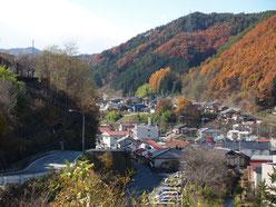 高台から見た木曽福島